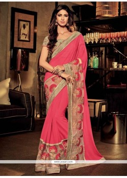 Distinctive Embroidered Work Classic Designer Saree