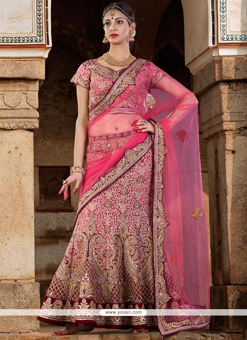 Splendid Velvet A Line Lehenga Choli