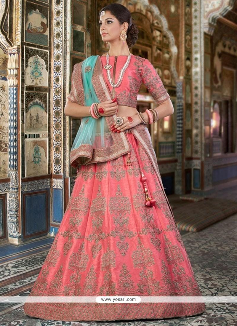 Classical Pink A Line Lehenga Choli