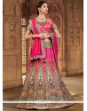 Specialised Hot Pink A Line Lehenga Choli