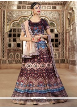 Princely Bhagalpuri Silk A Line Lehenga Choli