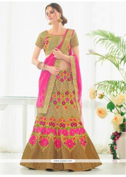 Mesmeric Patch Border Work A Line Lehenga Choli
