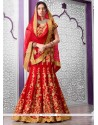 Lavish Net Embroidered Work A Line Lehenga Choli