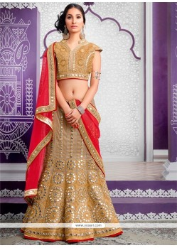 Desirable Fancy Fabric Patch Border Work A Line Lehenga Choli