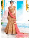 Glossy Embroidered Work A Line Lehenga Choli