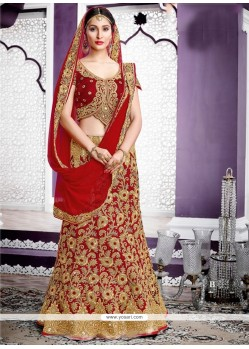 Amusing Red A Line Lehenga Choli