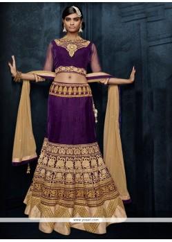Majestic Velvet A Line Lehenga Choli
