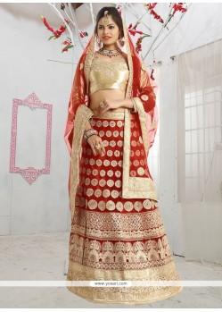 Remarkable Net Red Lehenga Choli