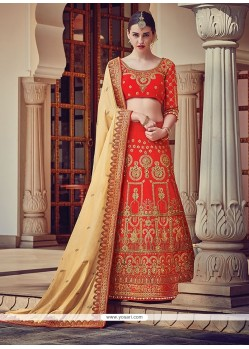Aspiring A Line Lehenga Choli For Bridal