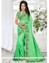 Bedazzling Green Classic Saree