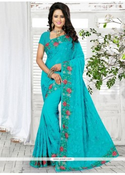 Delightful Georgette Traditional Saree