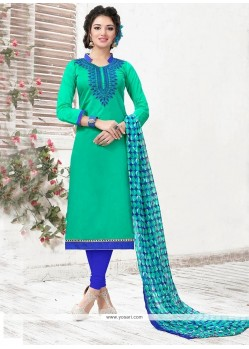 Impressive Sea Green Churidar Suit