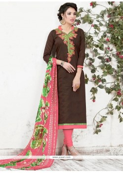 Mod Embroidered Work Churidar Suit