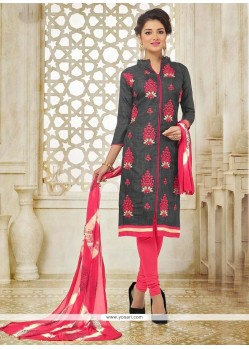 Magnificent Silk Churidar Suit