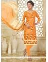 Sightly Orange Churidar Suit