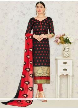Precious Lace Work Churidar Suit
