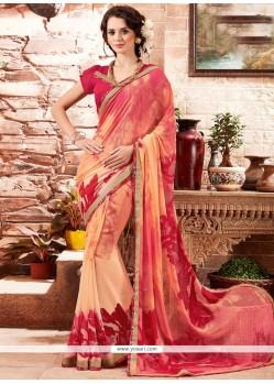 Dignified Print Work Multi Colour Printed Saree