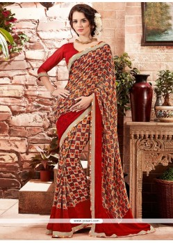 Appealing Georgette Multi Colour Printed Saree