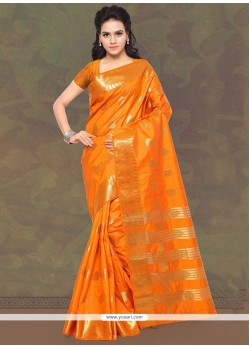 Gripping Banarasi Silk Trendy Saree