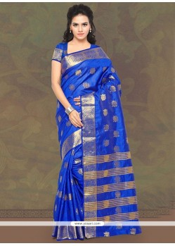 Especial Banarasi Silk Patch Border Work Classic Saree