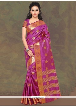 Magnificent Banarasi Silk Patch Border Work Traditional Saree