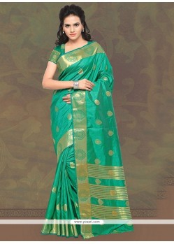 Distinctive Patch Border Work Banarasi Silk Classic Designer Saree
