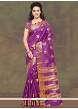 Aesthetic Magenta Patch Border Work Trendy Saree