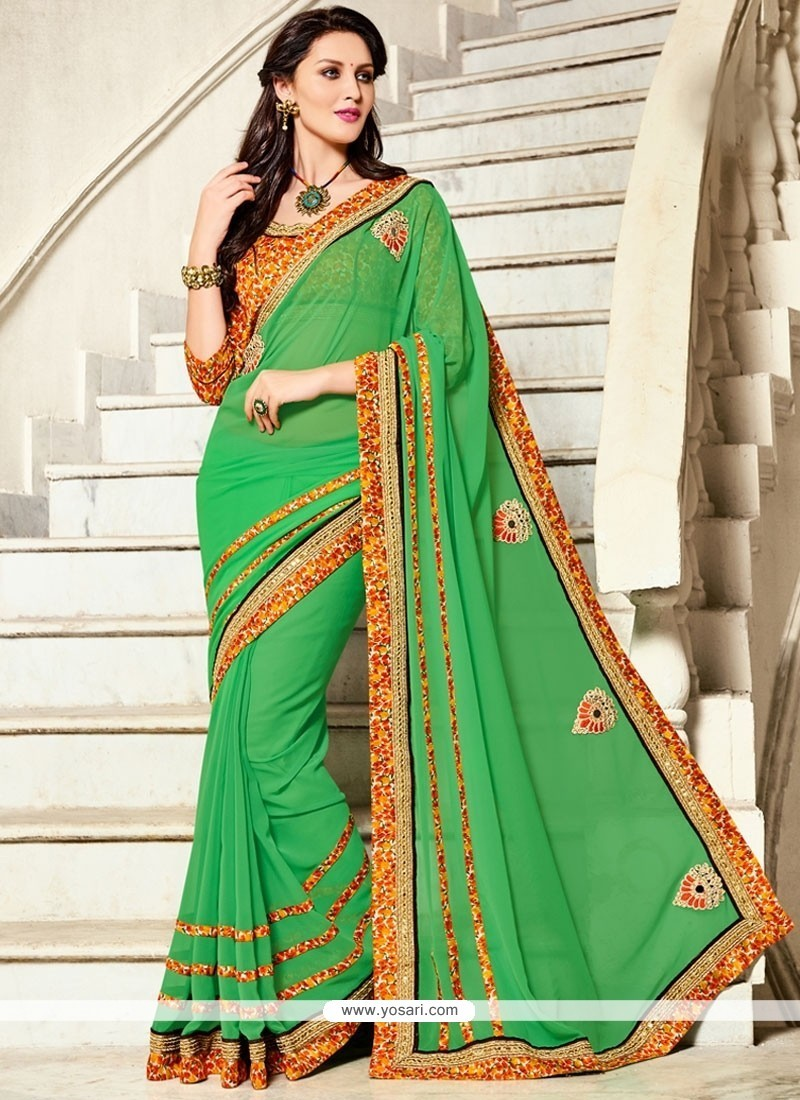 Adorning Georgette Classic Saree