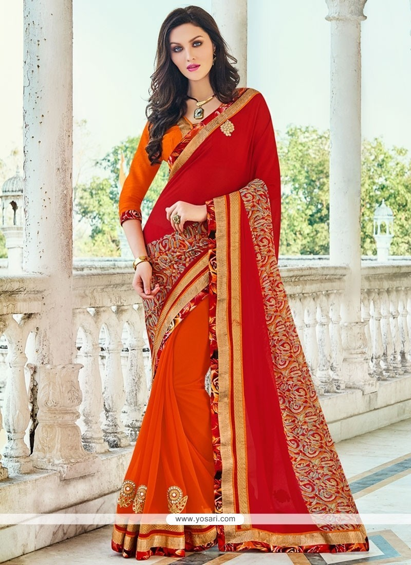 Beckoning Georgette Classic Saree