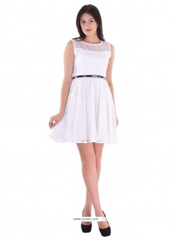 Congenial Off White Party Wear Kurti