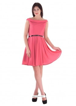 Aristocratic Georgette Pink Party Wear Kurti