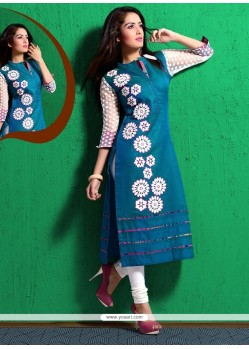 Sunshine Chanderi Party Wear Kurti