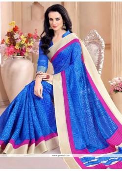 Transcendent Silk Blue Casual Saree