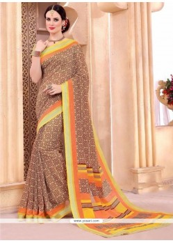 Majestic Silk Print Work Casual Saree