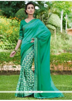 Suave Fancy Fabric Print Work Printed Saree