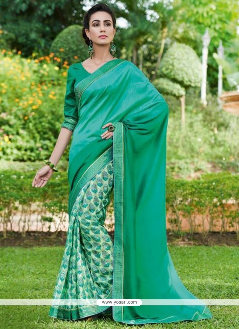 16754d16a0 Buy Suave Fancy Fabric Print Work Printed Saree | Casual Sarees