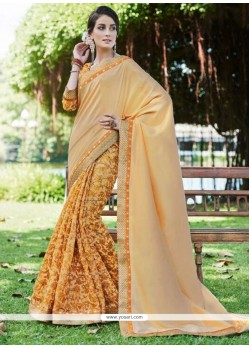 Eye-catchy Fancy Fabric Yellow Printed Saree