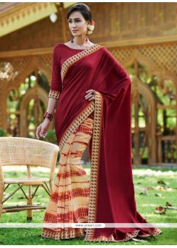 Gripping Multi Colour Print Work Printed Saree
