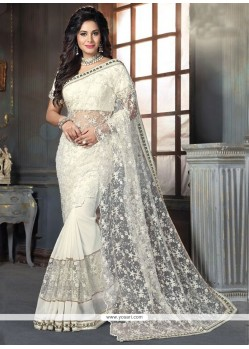 Lavish Georgette Off White Traditional Designer Sarees