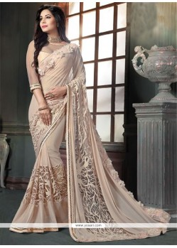Sunshine Georgette Embroidered Work Classic Designer Saree