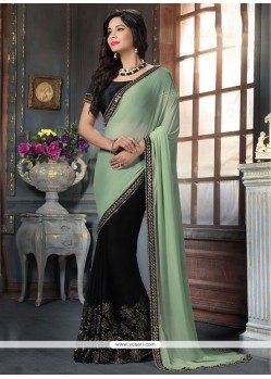 Marvelous Georgette Patch Border Work Traditional Designer Sarees