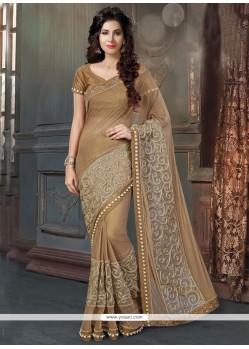 Irresistible Brown Classic Designer Saree