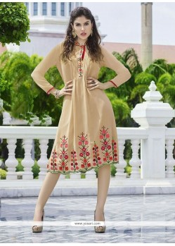Brilliant Georgette Embroidered Work Party Wear Kurti