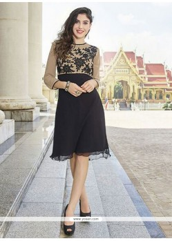 Prominent Black Party Wear Kurti