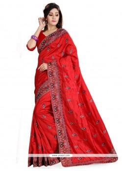 Astonishing Art Silk Embroidered Work Designer Traditional Sarees