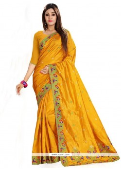 Tiptop Art Silk Embroidered Work Classic Saree