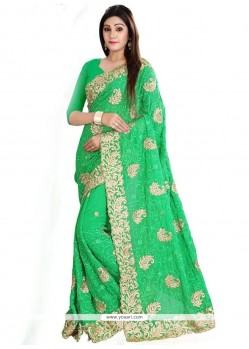 Outstanding Patch Border Work Classic Designer Saree