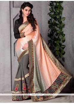 Dignified Grey Classic Designer Saree