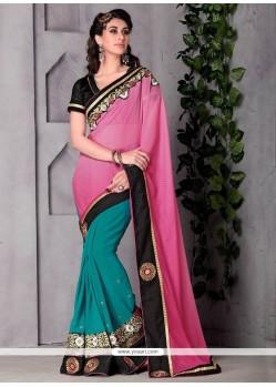 Unique Pink Classic Designer Saree