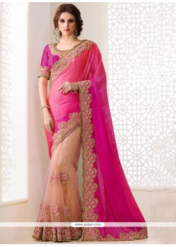 Zesty Hot Pink Classic Designer Saree